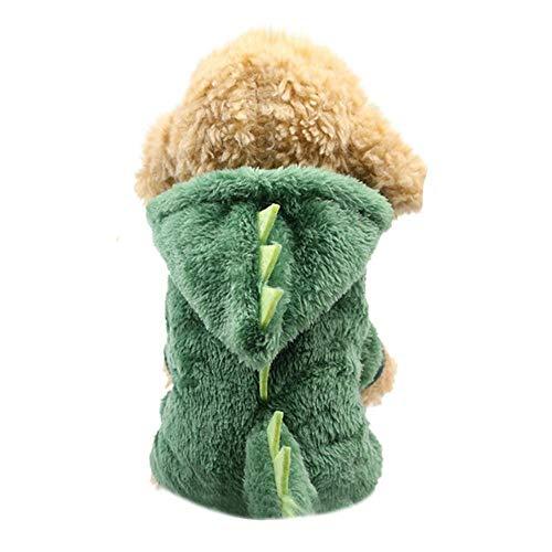 Abrigo para mascotas que proporciona ropa clida para el invierno para perros nuevos y aos para mascotas de invierno, ropa para mascotas pequeas, verde, M.