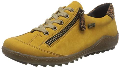 Remonte Damen R1402 Sneaker, Honig/Leo-Nuss/ 68, 38 EU
