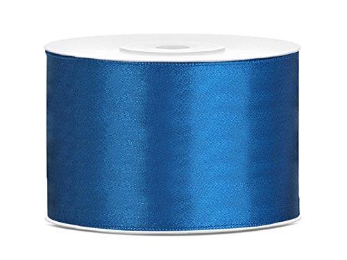 Satinband Dekoband 50 mm breit (blau) Schleifen Binden Hochzeit