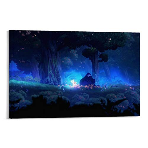 NENBN Ori And The Blind Forest 003 - Poster decorativo da parete per soggiorno, camera da letto, 30 x 45 cm