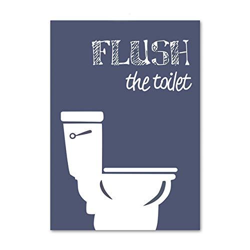LiMengQi2 WC Bagno Decorazione Poster e Stampe Citazioni Tela Pittura WC Wall Art Immagini WC (Senza Cornice)