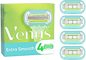 Gillette Venus Extra Smooth Razor Blades for Women, Pack of 4 Refill Blades