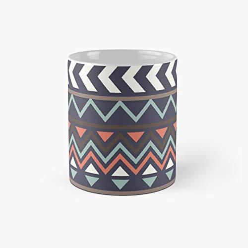 Taza clásica con patrón azteca | El mejor regalo divertidas tazas de café de 325 ml