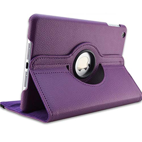 For iPad 3 A1416 A1430 A1403 Cover 360 Degree Rotation PU Leather for ipad case 3 2012 Release Stand Holder Case-for iPad 234 purple