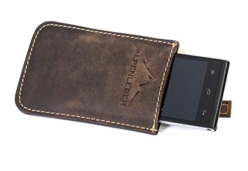 """Housse Pour Smartphone """"iPhone Cover""""   Cuir De Buffle   Homme Femme Télephone Portable Marron   By Alpenleder"""