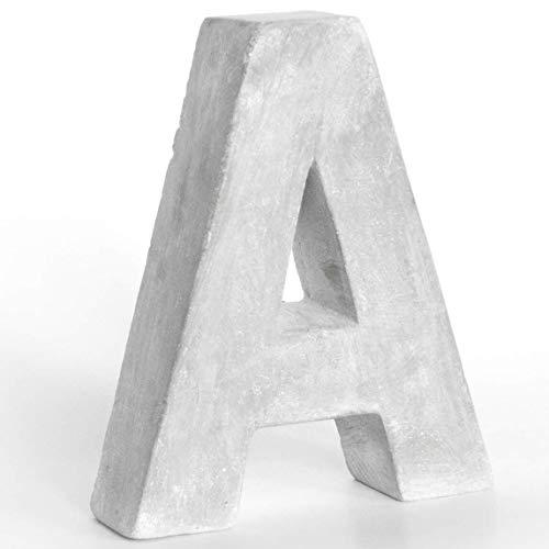 Alenio Individuelle Beton Wohnzimmer Deko Buchstaben Ihr Name in 3D Zement Home DIY Schriftzug Love Dekobuchstaben H15cm (A)