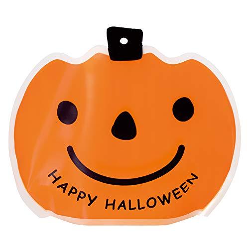 ミニギフトバッグ HW ハロウィン かぼちゃ 半透明 (30枚) HW-1MB