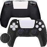 Game Rig PS5 Controller Cover - Dualsense Silicon Skin - Anti-Slip 100% Compatible Case - 360 Degree Gamepad Protector Black