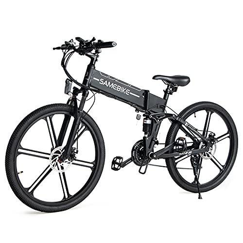 Lixa-da Bicicleta Eléctrica Plegable de 26 Pulgadas con Motor Sin Escobillas de...