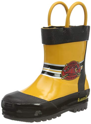Kamik Unisex-Jungen Fireman Gummistiefel, Gelb (Yellow YEL), 23 EU