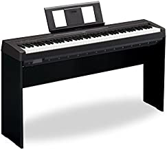 Yamaha P-45 88-Key Weighted Action Digital Piano & L85 Wood Keyboard Stand Kit
