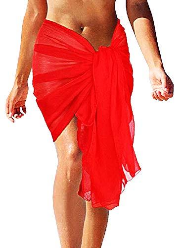 Inception Pro Infinite Pareo Femmina - Donna Lungo Mare - Copricostume - Gonna - Piscina - Spiaggia - Multiuso - Femminile - Ragazza - Rosso - 50 cm - Idea Regalo Originale