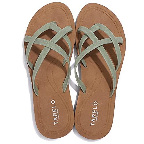 ASTERO Chanclas Mujer Flip Flop Sommer de Moda Sandalias Verano Suave Playa Vacaciones Antideslizantes Tamaño 36-41