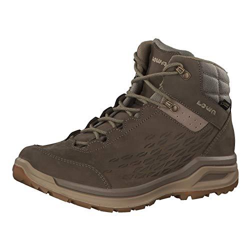Lowa W Locarno GTX QC Braun, Damen Gore-Tex Hiking- und Approachschuh, Größe EU 40 - Farbe Taupe - Stein