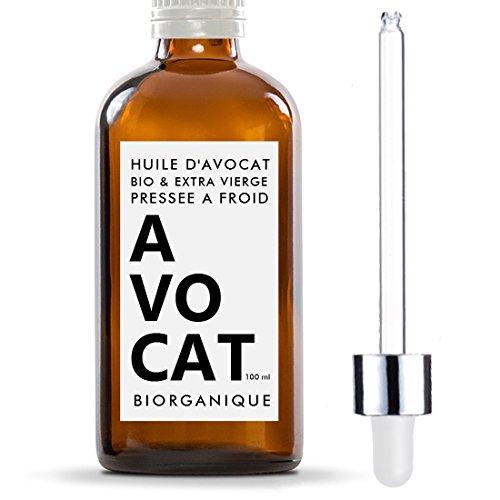 Huile d'Avocat 100% Bio, Pure, Naturelle et Pressée à...