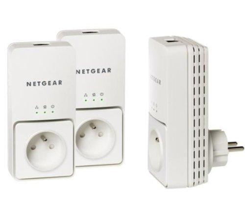 Netgear xavt25013er-Pack Adapter CPL Ethernet Powerline 200Mbit/s mit integriertem Buchse HomePlug AV