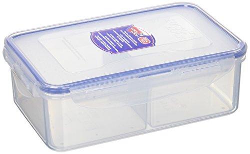 Lock & Lock HPL817C Boîte rectangulaire à 3 compartiments Plastique Transparent 20,5 x 13,4 x 6,9 cm 1 L