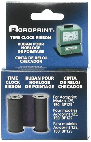 Acroprint 20-0106-002 Standard 125/150 Blue Ribbon, Blue Time Clock Ribbon For Use With Model 125 and Model 150 Acroprint Time Clocks