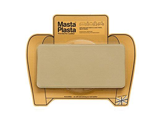 MastaPlasta - Parches autoadhesivos para reparación de Cuero y Otros Tejidos. Beige. Elije el tamaño y el diseño. Primeros Auxilios para sofás, Asientos de Coche, Bolsos, Chaquetas
