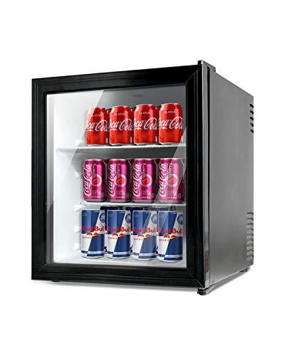 Kuppet Getränkekühler und Kühlschrank, 65 l, Mini-Kühlschrank für Zuhause, Büro oder Bar, mit Glastür und verstellbaren, abnehmbaren Ablagen, perfekt für Limonadenbier oder Wein, Schwarz