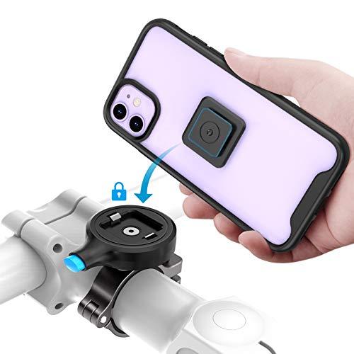 Sokusin Soporte de metal para teléfono de bicicleta, carcasa para iPhone 11, aleación de aluminio, soporte para manillar de motocicleta