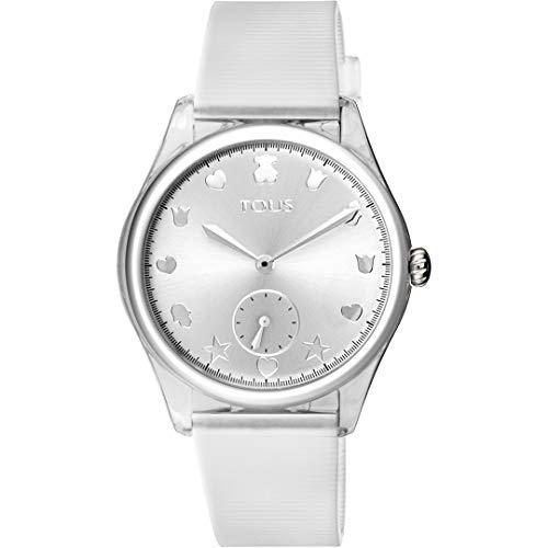 Reloj Tous 900350075 Free Fresh de Acero y policarbonato con Correa de Silicona Blanca