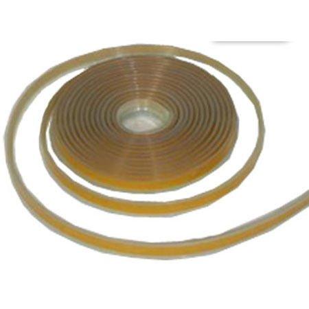 Dichtlippe für Glasplatte aus Silikon selbstklebend 4,5m