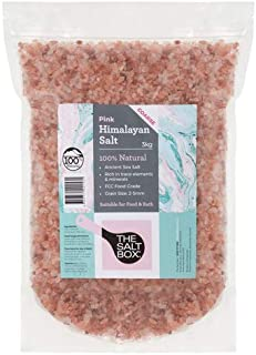 The Salt Box Natural Himalayan Pink Salt 3kg Coarse Food Grade Resealable Bulk Bag