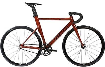 "FabricBike Aero - Bicicleta Fixed, Fixie, Single Speed, Cuadro de Aluminio y Horquilla de Carbono, Ruedas 28"", 5 Colores, 3 Tallas, 7.95 kg (Talla M)"