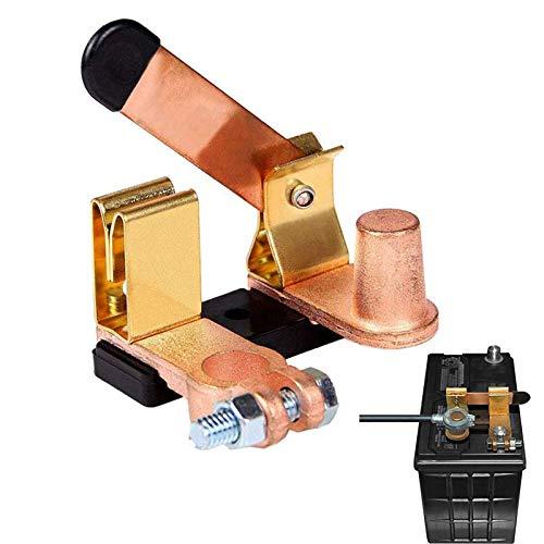 Spurtar Interrupteurs de Batterie 12V/24V Coupe Circuit Batterie, Extrémité De Batterie Antivol pour Voiture Moto Tracteur Bateau, Top Post