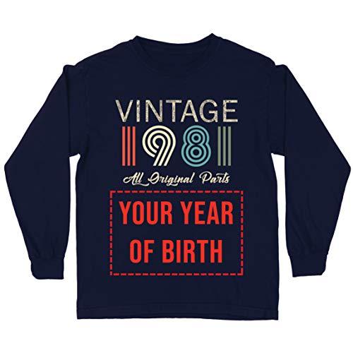lepni.me Camiseta para Niños Personalizado con Cualquier Año Regalo Vintage Todas Las Piezas Originales (14-15 Years Azul Multicolor)