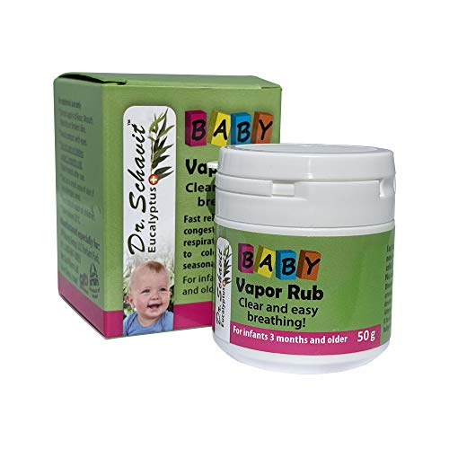 Dr. Schavit Baby Soothing Chest Rub. Vapor Rub – Nasal Congestion Balm for Infant, Baby, Toddler – Natural Healing Nose Congestion Relief, Colds, Flu – Herbal Eucalyptus, Menthol, Thyme (1.7oz)
