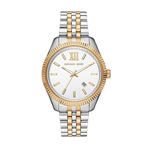 Michael Kors Herren Analog Quarz Uhr mit Edelstahl Armband MK8752