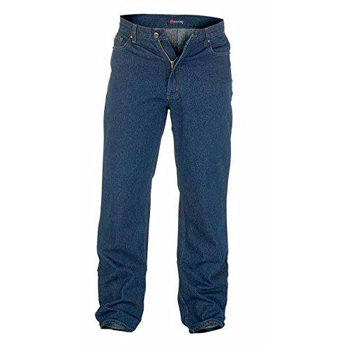 Duke - Pantalón cómodo Modelo Rockford Tallas Grandes para Hombre (127 cm Corto) (Azul índigo)