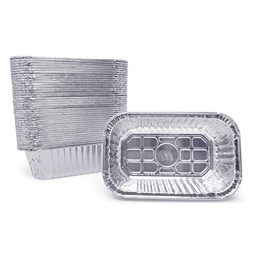 (120 Pack) Premium 1-LB Bread Loaf Baking Pans l Mini 6' x 3.7' x 2' l Extra-Heavy Duty l Disposable Aluminum Foil Oven Safe Sturdy 1-Pound Small Bread Tin