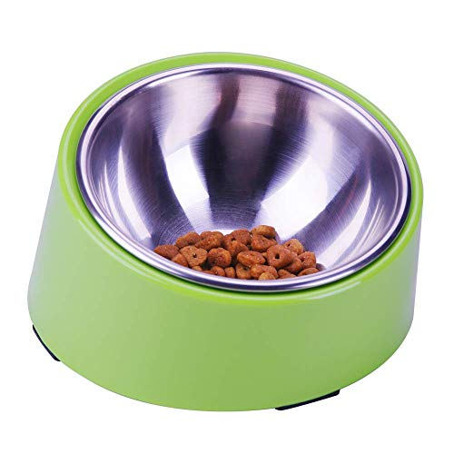Super Design Mess Free 15° Slanted Bowl for Dogs...