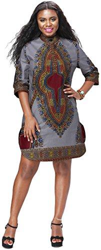 Shenbolen Women African Print Shirt Dashiki Traditional National Clothing