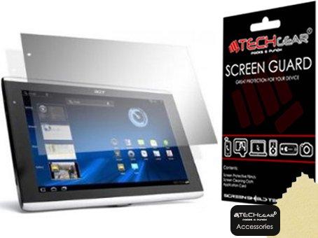 TECHGEAR Bildschirmschutz für Acer Iconia Tab A500 10,1 Zoll Tablet - Ultra Klare Schutzfolie - mit Reinigungstuch + Applikationskarte