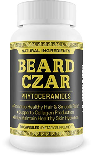 The Beard Czar- Phytoceramides- Promotes Healthy Hair & Smooth Skin- Supports Collagen Production- Helps Maintain Healthy Skin Hydration- 30 Capsules