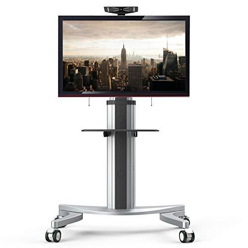 FLEXIMOUNTS P2 Supporto TV da Pavimento con Ruote e Mensola Staffa Porta Mobile Supporto per Schermi 32 -70  Plasma LCD LED Con Portata Max. 45 kg