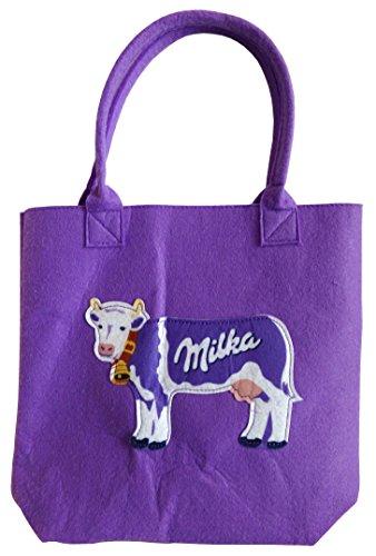 Milka - Filz Tasche 25 x 20 x 8 cm