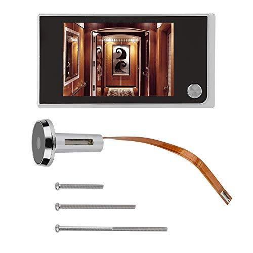 Cámara y monitor de puerta, LCD digital de 3,5 pulgadas Visor de mirilla de 120 grados Monitoreo visual de fotos Cámara electrónica de ojo de gato, Monitor de entrada de puerta
