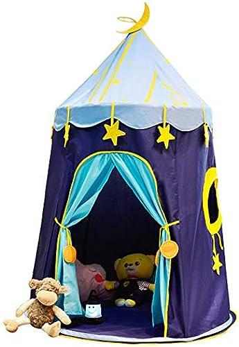 WYFDM Tipi-Zelt Für Kinder, Tragbares Tipi-Zelt Für Kinder, Blau Star Indoor-Hausspiel Baby-Spielzeugspiel Castle Castle Princess Tent