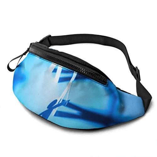 JIUCHUAN Taillentasche Wasserdichter Kreis, der Papierfigur verbindet Stilvolle Taille Packung mit Kopfhöreranschluss und verstellbaren Trägern Herrentasche Taille für Reisesport Wandern