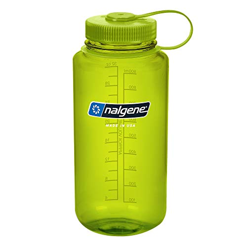 Nalgene Tritan Wide Mouth BPA-Free Water Bottle, Spring Green, 1 Quart