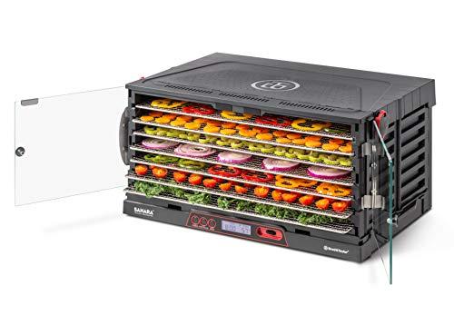Brod & Taylor SAHARA Folding Food Dehydrator, Beef Jerky, Fruit Leather, Vegetable Dryer (Stainless Steel Shelves)