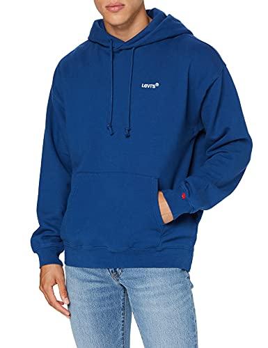 Levi's Red Tab Sweats Hoodie Sudadera, Azul Marino, XS Regular para Hombre