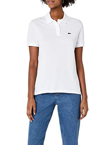 Lacoste Damen Poloshirt Pf7839,Weiß (Blanc),38 (Herstellergröße: 38)