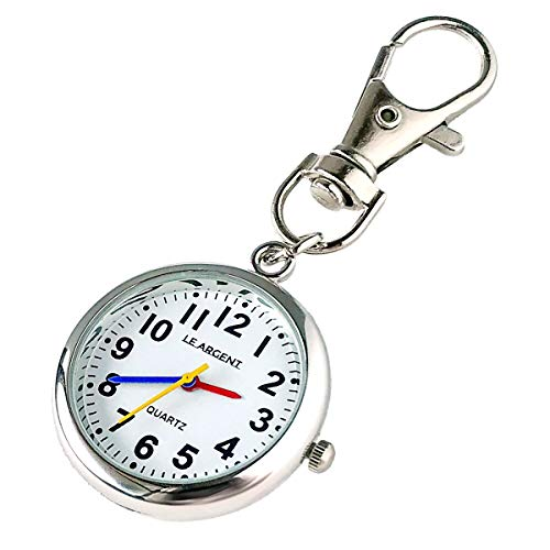 LEARGENT(ルアルジャン)懐中時計ナースウォッチ時計キーホルダーかいちゅう時計【日本製クオーツ日本製電池】