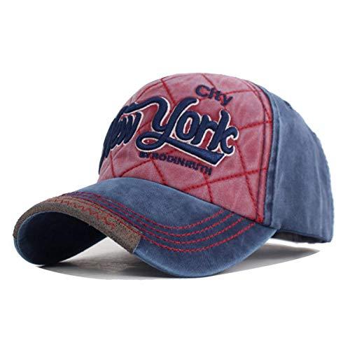 Gorra York Gorra de béisbol para Hombres Gorras Snapback para Mujer Sombreros para Mujer Casquette Gorras Gorra de béisbol para Hombres Gorra de Camionero Papá Ajustable Navywinered
